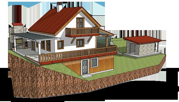 ostrovný sebestačný dom
